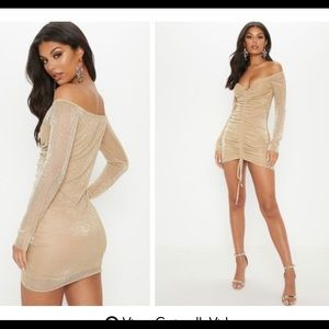 PrettyLittleThing Dresses - Metallic Gold Dress